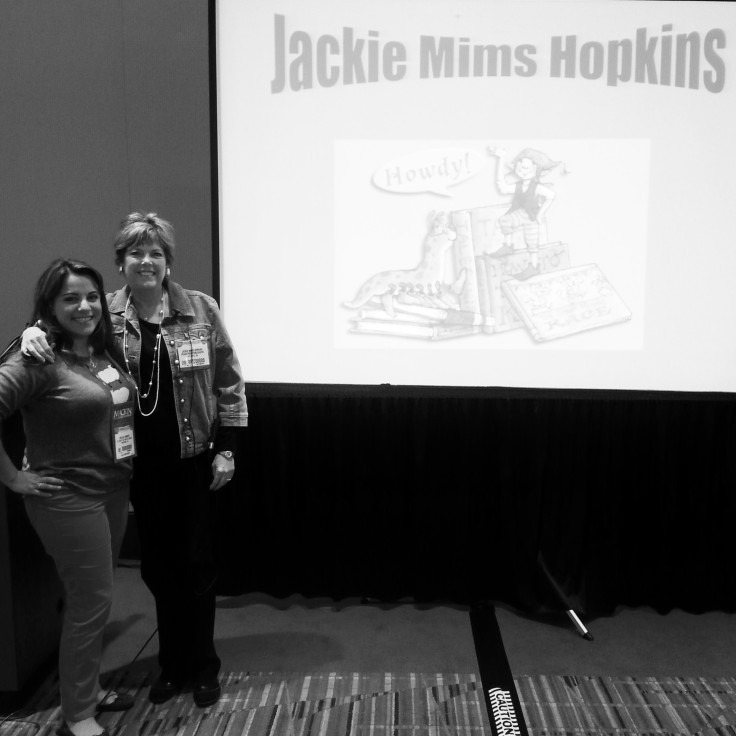 Here I am with Author Jackie Mims Hopkins, former librarian extraordinary turned delightful story teller and author. I did purchase some of her books and I am waiting for them to be shipped to me.
