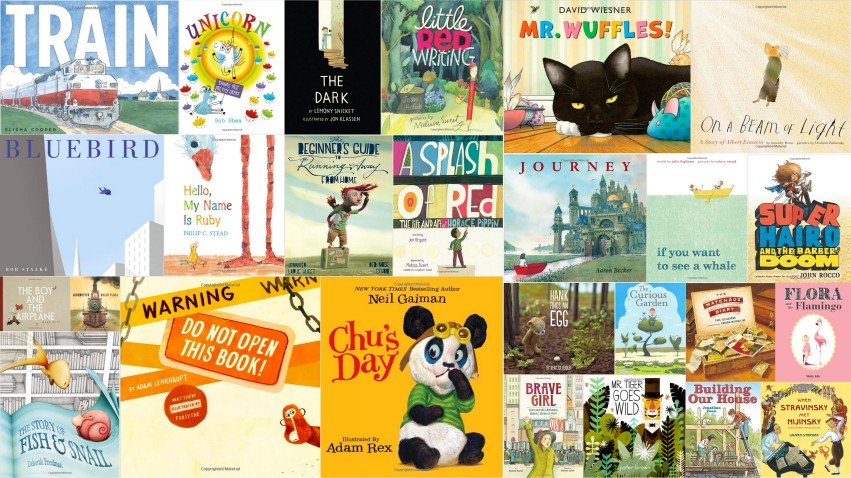 The books students will critique for the Mock Caldecott