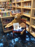 Library Lion and I all ready to meet the new Kindergarten classes!