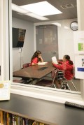 Students love to go into to the study room to work and read quietly.